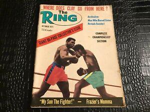 OCT 1971 THE RING vintage boxing magazine - MUHAMMED ALI