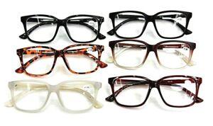 Large Frame Oversized Retro Fashion Reading Glasses Men's Woman's 6 Colours TN44
