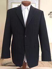 Stunning NEW Canali Mens Black Stripe Dual Vent 3 Btn Blazer Jacket Sz 40 R