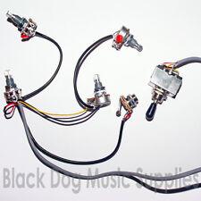 Guitar wiring kit 2 volume 2 tone input jack socket switch Pot Potentiometer