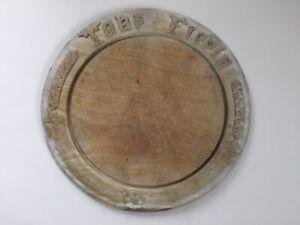 Antique/ vintage carved bread board, 'Take freely', kitchenalia.