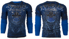 Xtreme Couture AFFLICTION Mens THERMAL T-Shirt HONORABLE Biker MMA S-3XL $58