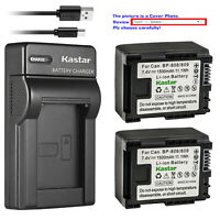 Kastar Battery Slim USB Charger for Canon BP-809 Canon VIXIA HF S30 HFS30 Camera