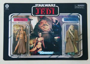 star wars custom the vintage collection double pack / leia slave & bib fortuna