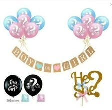 Gender Reveal balloon Party Supplies Baby Shower Boy or Girl Decorations Set