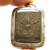 LP BOON LORD BUDDHA & 2 DISCIPLES THAI HEALING AMULET LONG HEALTHY LIFE PENDANT