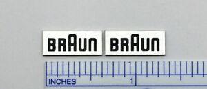 Braun Speaker Badge Logo Pair 7x17mm, 10x22mm, 15x32mm Silver Aluminum