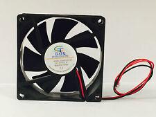 Fan 80mm x 80mm x 25mm DC 12V Cooling Disco Lighting PC