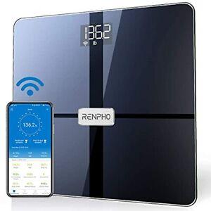 RENPHO WLAN-Smart-Waage Bluetooth Körperfettwaage Personenwaage mit Körperfet...
