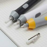 Handy Electric Battery Operated Pencil Eraser Rubber Pen Out Refills Super O5U6