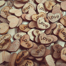 100Pcs Mini Wooden LOVE Heart Shape Wedding Table Scatter Decor Centerpieces