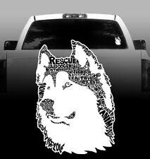 Siberian Husky Words - Vinyl Sticker Decal - High Quality, Car, Window
