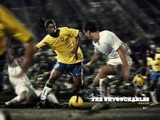 14x21Inch Art The Untouchables Ronaldinho Brazil Fabric Poster 1048