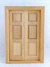Melody Jane Dolls House Double Panel Doors Miniature Interior Wooden Traditional