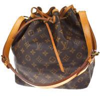 Authentic LOUIS VUITTON Noe PM Shoulder Bag Monogram Leather BN M42226 84MF174