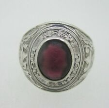 Class Ring Size 10.25 Sterling Silver West High School