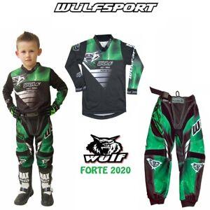 WULF 2020 KIDS FORTE MOTOCROSS DIRT BIKE JERSEY PANTS PROTECTIVE CLOTHING GREEN