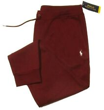 Polo Ralph Lauren Performance Men's Red Burgundy Double Knit Jogger Pants