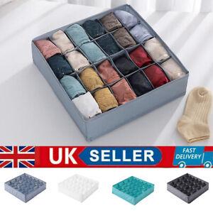 Foldable Underwear Socks Bra Drawer Organiser Storage Box Fabric Drawer Divider