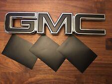 07-17 GMC Sierra Yukon MATTE BLACK Front Grill / Rear Emblem Overlay Kit Decal