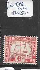 HONG KONG   (P2705BB)  POSTAGE DUE 6C  SG D8  MNH