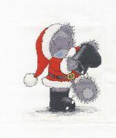 "DMC Christmas Tatty Teddy ""Santa in the Snow"" Cross Stitch Kit"
