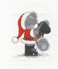 "DMC Christmas Tatty Teddy ""Santa in the Snow"" Cross Stitch Kit"