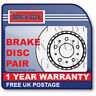 BBD5451 BORG & BECK BRAKE DISC PAIR [Front Axle] fits Proton Savvy 1.2i 04-