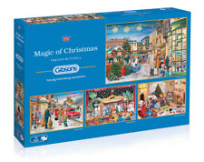 GIBSONS MAGIC OF CHRISTMAS 4 x 500 PIECE JIGSAW PUZZLE G5046