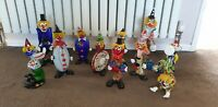 Vintage Genuine Venetian Murano Glass Clown collection 11 made in Italy rare