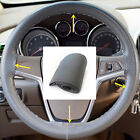 DIY Car Truck Leather Steering Wheel Cover With Needles And Gray Thread