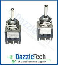 Miniature Toggle Switch DPDT on-off-on Centre Off PIC Model Railways x 1 Switch