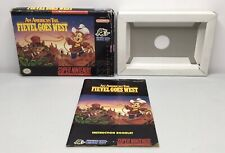 SNES An American Tail: Fievel Goes West Box/Tray + Manual *Authentic* *No Game*