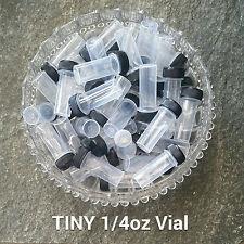 20 Tiny Tube Jar Vials Stash Bottles Mining Black Cap Container 2209 DecoJars US