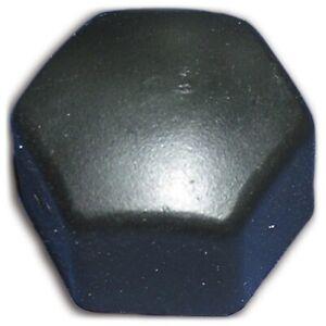 Citroen 2cv & Dyane Black plastic wheel nut caps x12