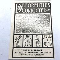 Authentic 1860-1930's Quack Medical Advertisement - Oddities Collectible Old C