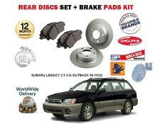 FOR SUBARU LEGACY 2.5 3.0 OUTBACK 1999-10/2003 REAR BRAKE DISCS SET+ PADS KIT