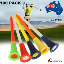 Golf Rubber Tees With Cushion Top 83MM Large Plastic Tee Multi Color 100Pack AU