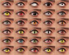 Motivlinsen farbige Kontaktlinsen Funlinsen ohne Stärke Halloween Fasching