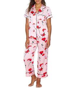 NEW $88.00 KATE SPADE Poppy Print Capri Pj Pajama Set - Medium