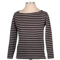 Everlane Womens Boat Neck Long Sleeve Striped Black White Pullover Top Size XS