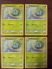 Pokemon Shining Legends 4x Bulbasaur Playset - NM