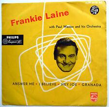 FRANKIE LAINE 45 EP Answer Me / I Believe / Hey Joe / Granada UK PRESS Pop w3821