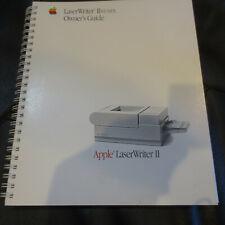 Vintage Apple LaserWriter II NT/NTX Owner's Guide, 1988