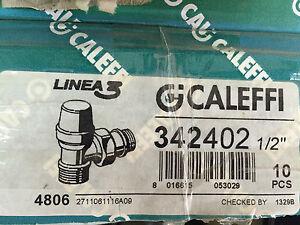 CALEFFI 342402 Detentore, attacchi a squadra D 1/2 per rame e multistrato