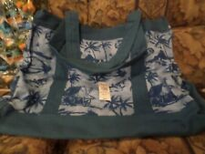 Jimmy Buffett Margaritaville Canvas Tote Bag Nwt Parrot Palm Trees