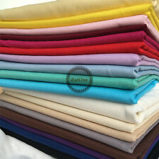 100% Cotton Fabric Fat Quarter Sewing Quilt Craft Plain Solid Colour by Metre