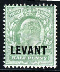 BRITISH LEVANT KE VII 1905 Overprint LEVANT on ½d. Pale Yellow-Green SG L1 MINT