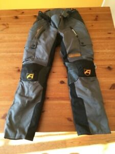 Akito XS waterproof textile motorcycle trousers. zip out liners