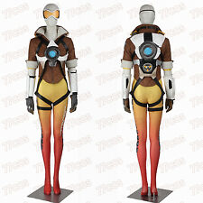 Overwatch Tracer Lena Oxton Women Cosplay Costume Full Size Yellow Costume